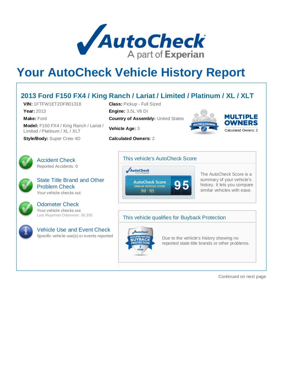 2013 Ford F-150 4WD SuperCrew 1FTFW1ET2DFB01318.pdf - page 1/6