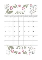 PDF Document 04 calendrier avril 2018 aquarelle a5 portrait recettesbox