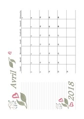 PDF Document 04 calendrier avril 2018 aquarelle a5 paysage recettesbox