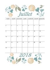 PDF Document 07 calendrier juillet 2018 aquarelle a5 portrait recettesbox
