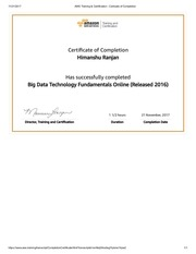 aws training certification certicate of completion