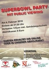 fein superbowl viewing 2018 plakat ansicht