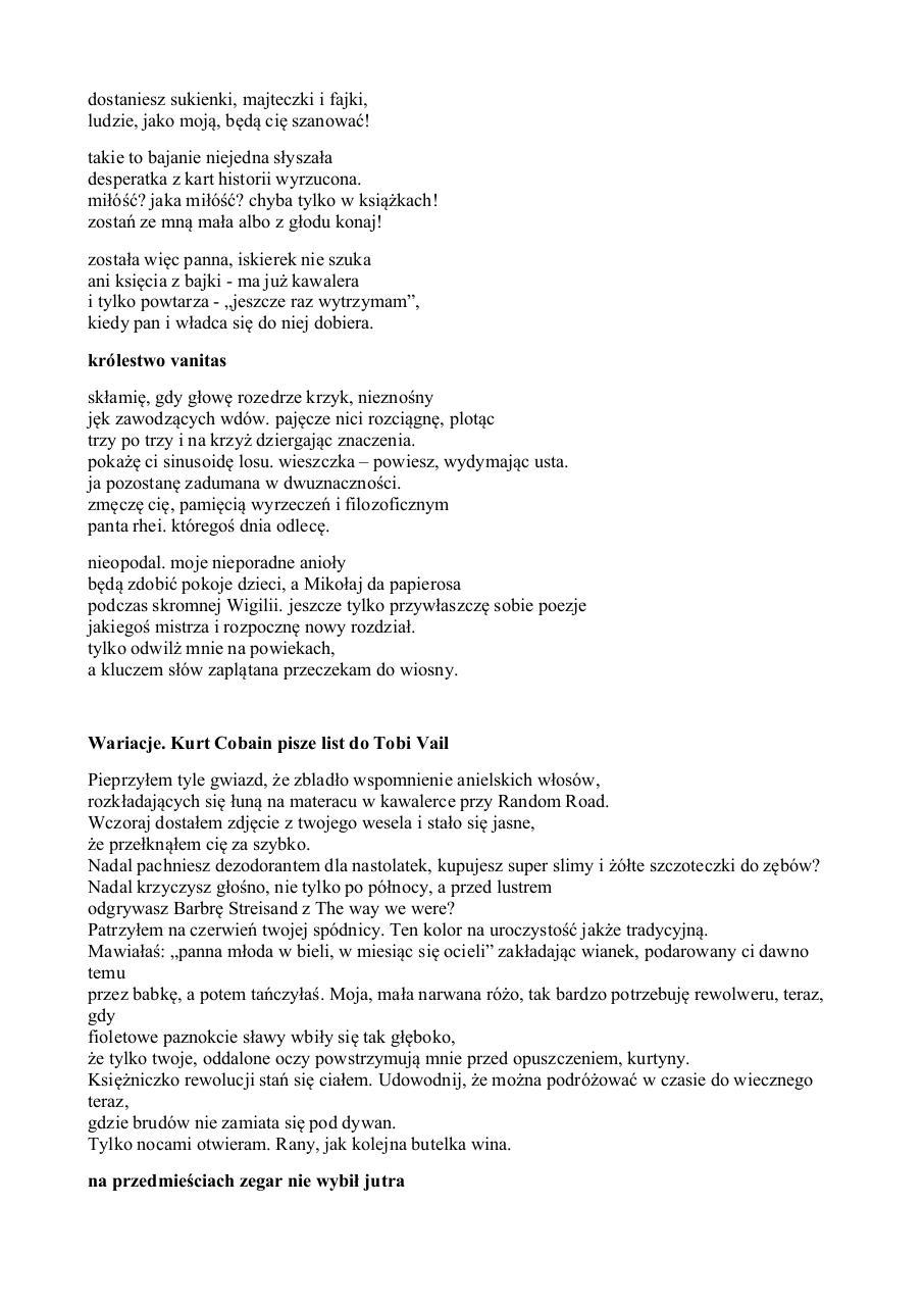 Anna Palewicz Wiersze 0 By Anna Pdf Archive