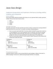 java class design