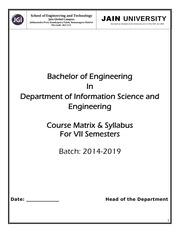 vii semester syllabus