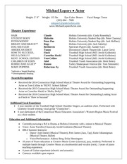 theatre resume update