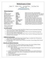 theatre resume update