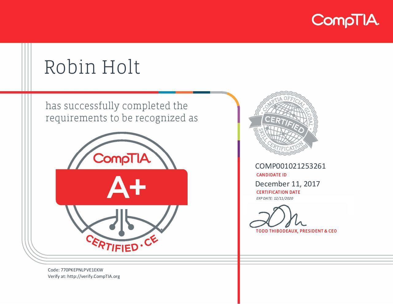 comptia certificate pdf documents
