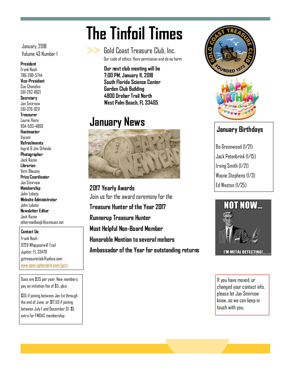 Preview of PDF document 2018-january-gctc-newsletter.pdf - Page 1/6