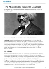bio civil rights frederick douglass 19292 article only