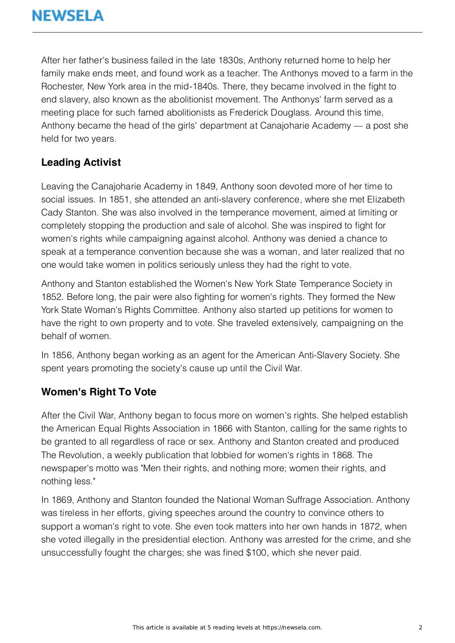 Document preview bio-women-leaders-susan-b-anthony-19516-article_only.pdf - page 2/3
