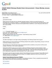 coast noaa pathways student intern announcement