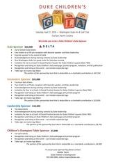 PDF Document duke children s gala 2018 sponsorship levels