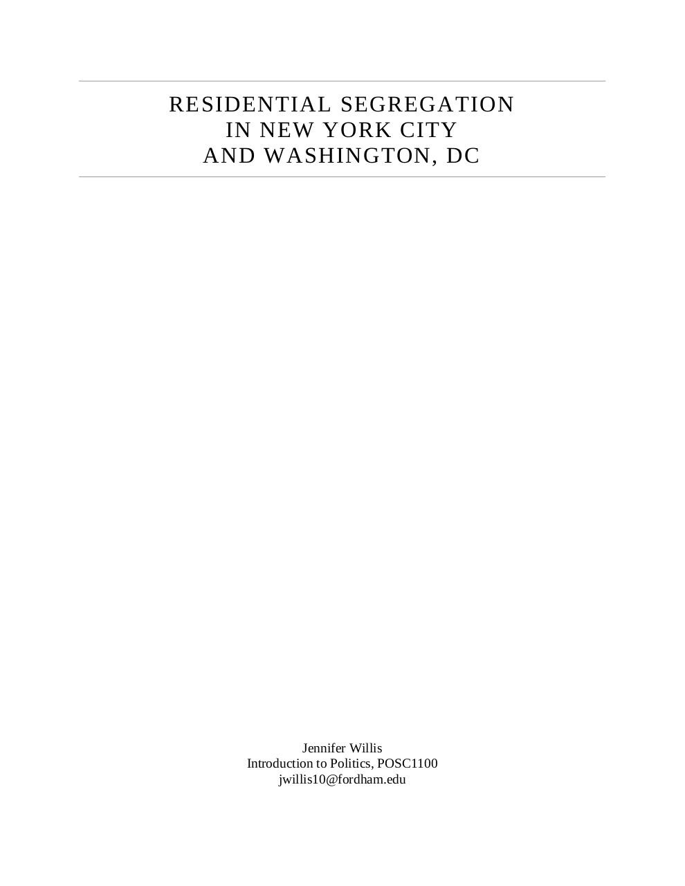 Residential Segregation in New York City and Washington, DC.pdf - page 1/19