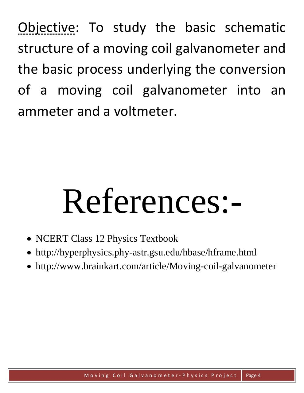 Physics project moving coil galvanometer.pdf - page 4/18