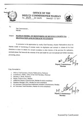 mardan model of monitoring of revenue courts