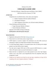 cougar classic 2018 rulesbook