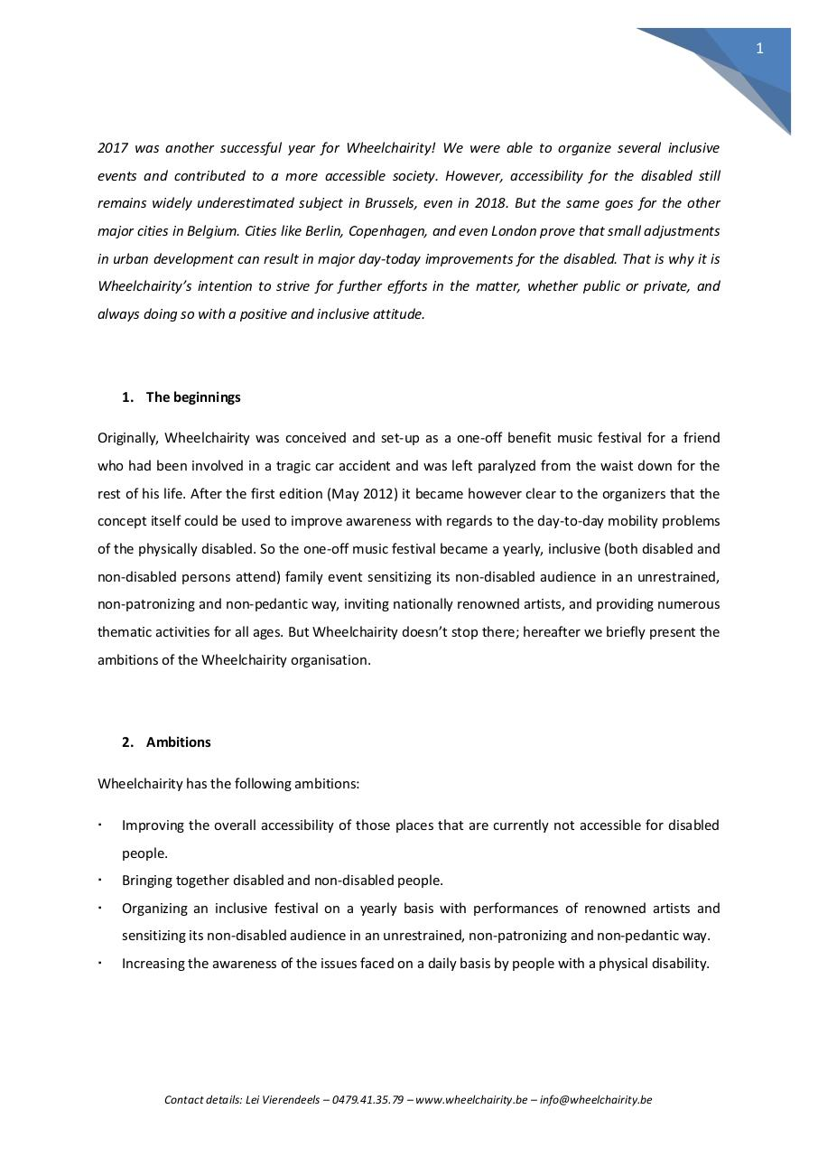 Document preview Wheelchairity 2018 - Sponsoring ENGLISH.pdf - page 2/4