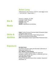 PDF Document arlen levy artists cv 1