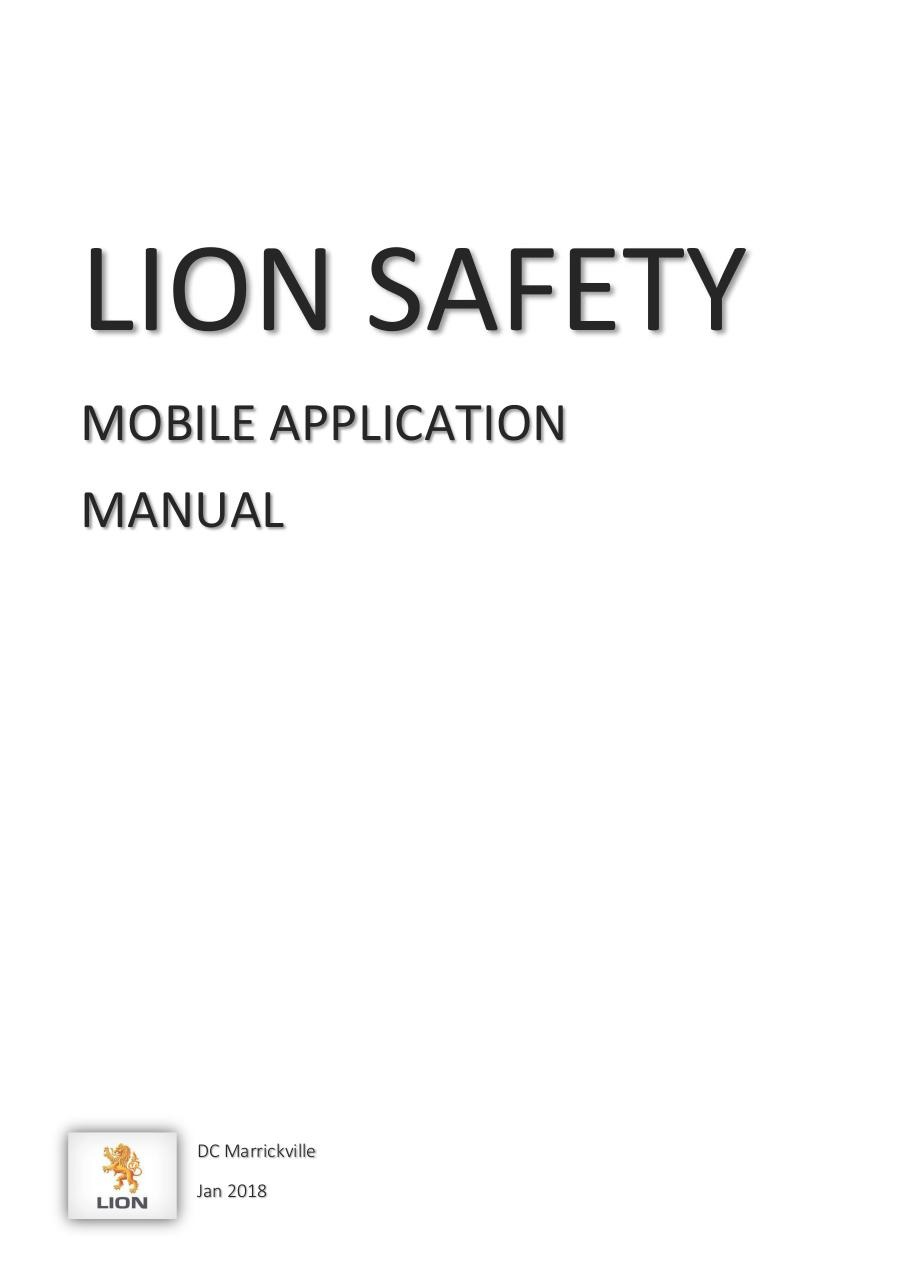 Lion Safety App - User Manual.pdf - page 1/11