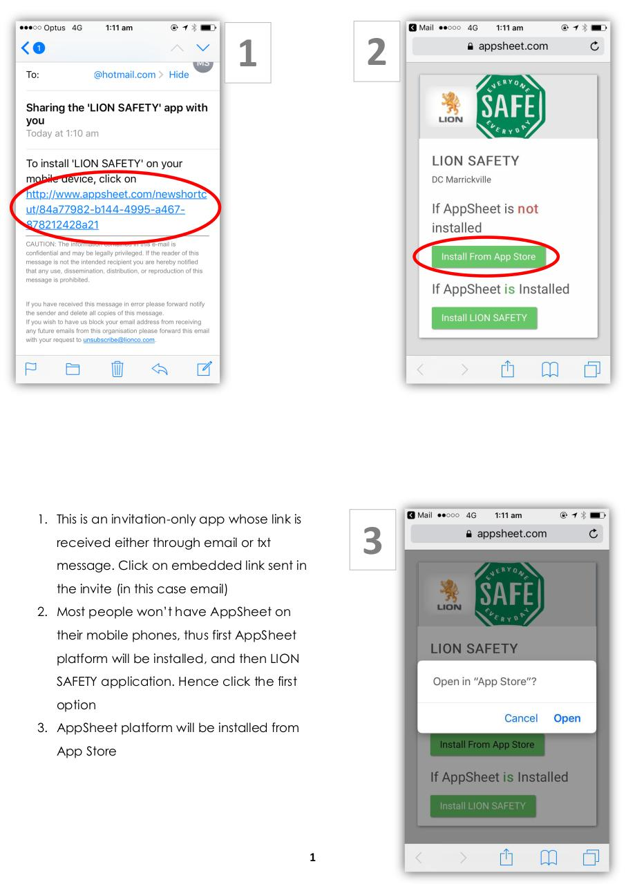 Lion Safety App - User Manual.pdf - page 3/11