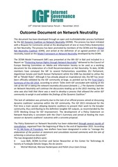 dcnn outcome document net neutrality policy statement