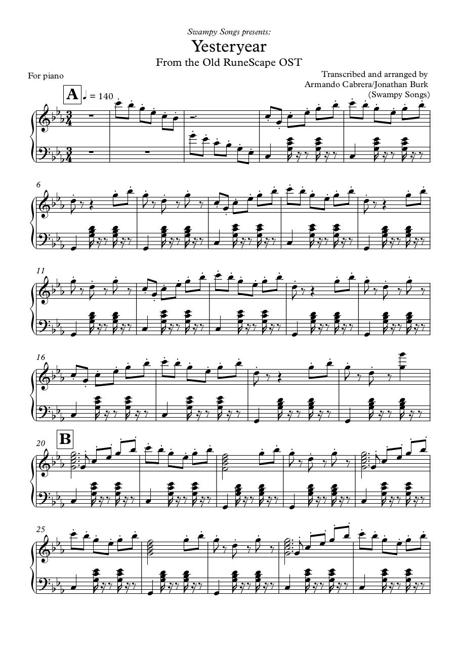 Yesteryear - Partitura completa.pdf - page 1/8