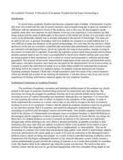 academic freedom handout