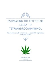 estimating the effects of thc on humans