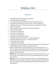 wildfyre chili recipe