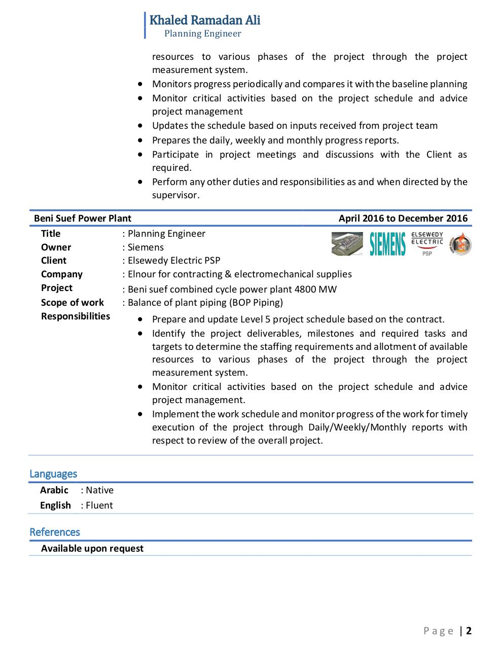 Document preview Khaled Ramadan - Planning Engineer.pdf - page 2/2