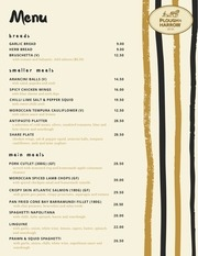plough harrow menu