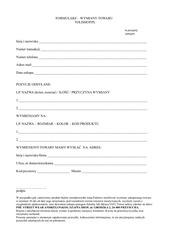 formularz wymiany tolishop pl