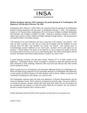 insa press release grand opening for web 1
