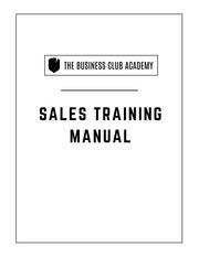 bca sales training manual