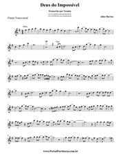 aline barros deus do imposs vel flauta transversal