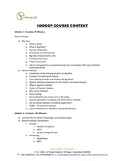 PDF Document hadoop online course content pdf
