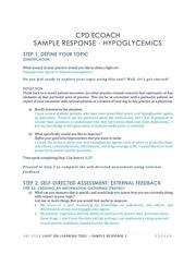 sample response hypoglycemics