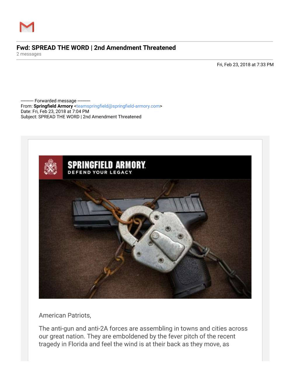 Gmail - Fwd_ SPREAD THE WORD _ 2nd Amendment ThreatenedCopy2.pdf - page 1/2