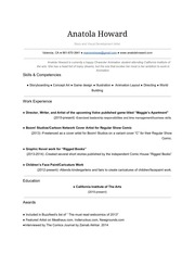anatola howard resume