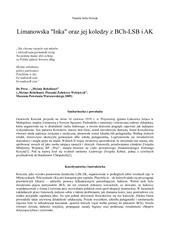 limanowska inka oraz jej koledzy z bch lsb i ak