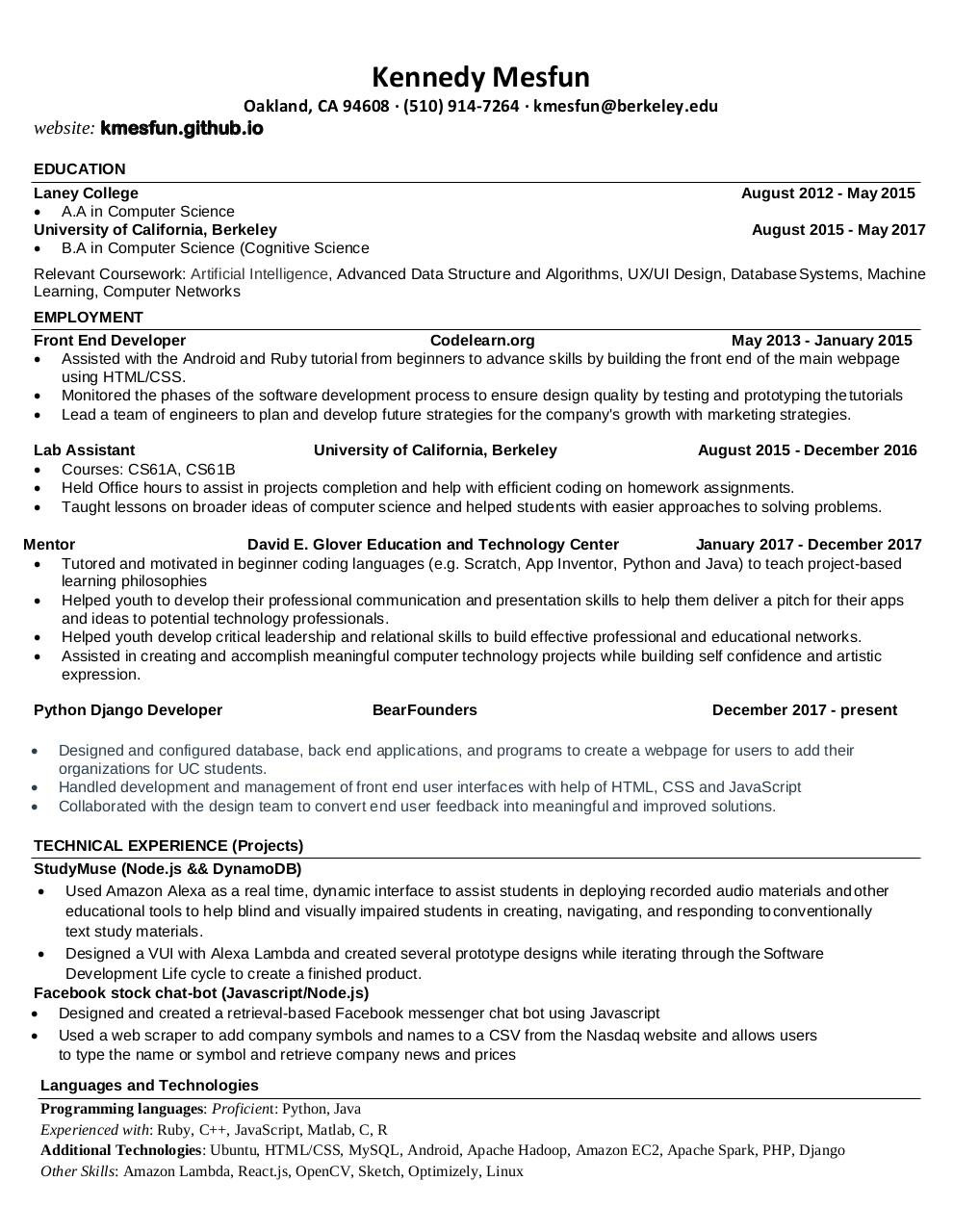 Document preview Resume.pdf - page 1/1