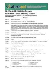 alera act 2018 conference program final