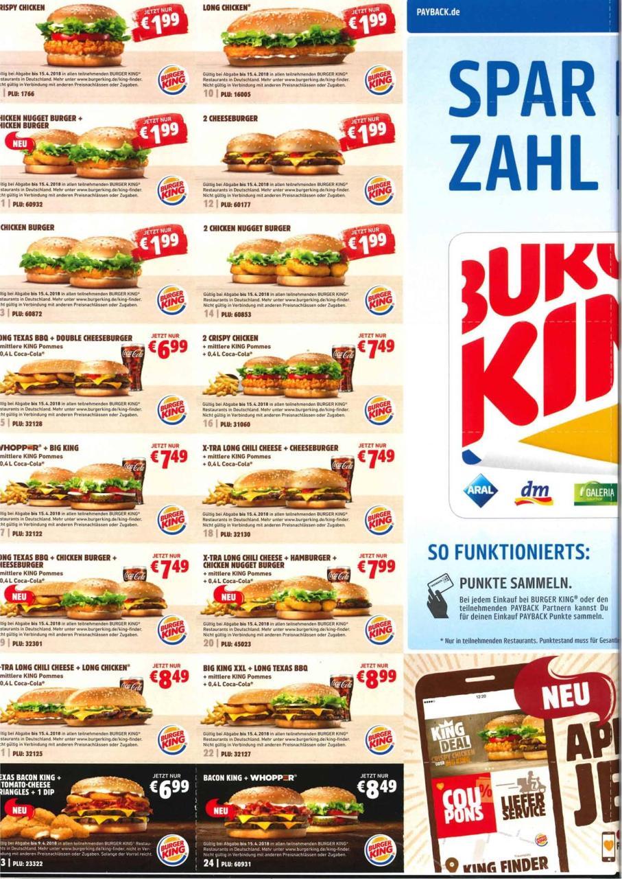 Burgerking Gutscheine Pdf