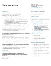 parshwa resume