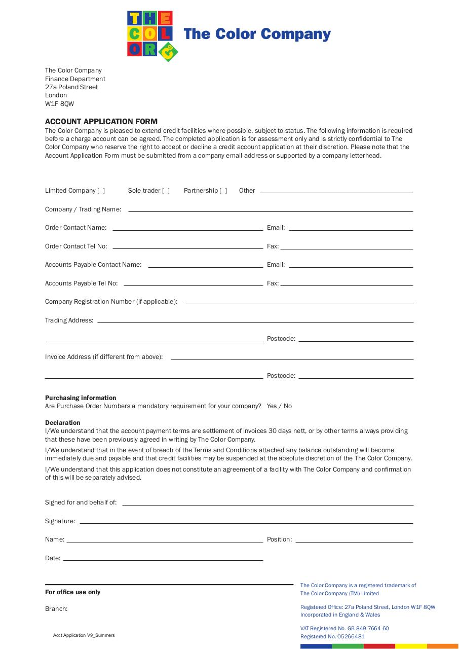 Account Application.pdf - page 1/2