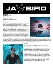 PDF Document jay bird up here press release