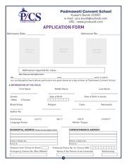 PDF Document padmawati convent school admission form