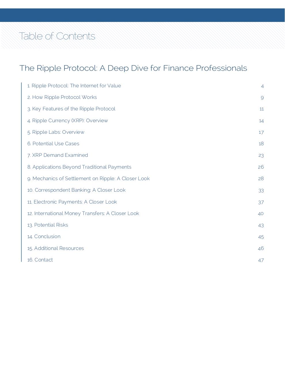 Ripple Protocol - Deep Dive For Financial Professionals.pdf - page 3/47