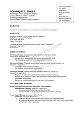 sample thomasian resume